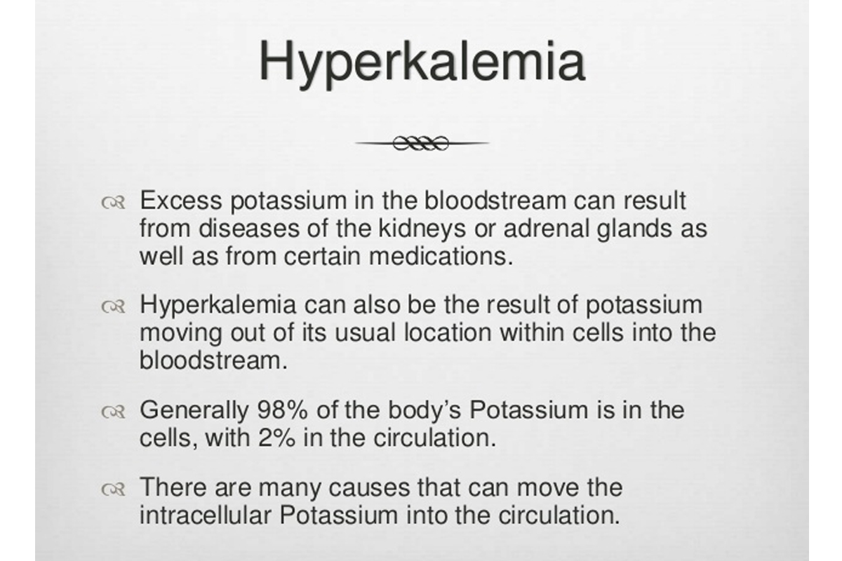 Hyperkalemia, High Potassium