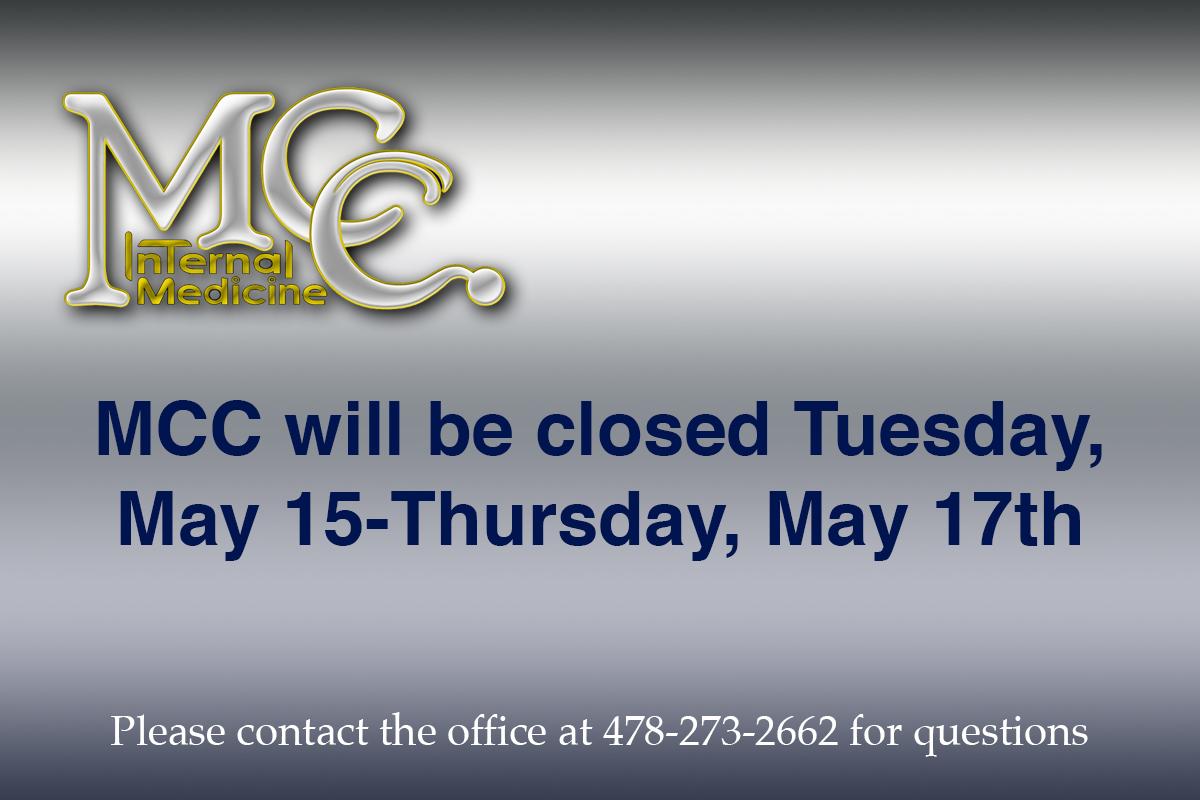 MCC closed May 15-May 17