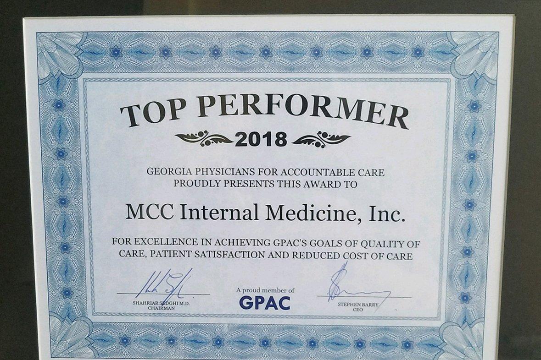 GPAC Top Performer